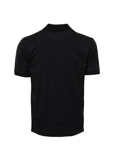 Wessi Erkek Slim Fit Polo Yaka Düz Tişört Siyah